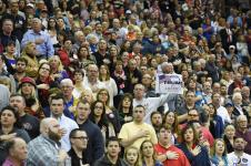 People say the Pledge of Allegiance during the U.S. Republican presidential candidate Donald Trump campaign rally at the Pensacola Bay Center in Pensacola, Florida Wednesday January 13, 2016. (Michael Spooneybarger/ CREO)